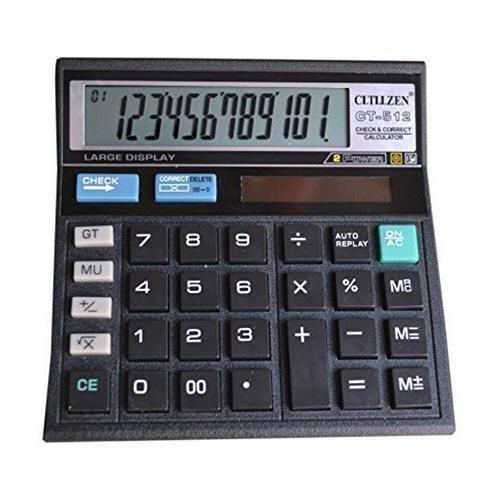 Citizen Kalkulator Calculator CT 512 Penghitung 12 digit cek and corect faf130a705