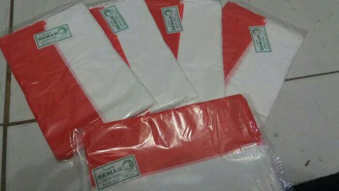 10 pack BENDERA MERAH PUTIH PLASTIK CAP SEMAR 10 pack (1000 pcs)