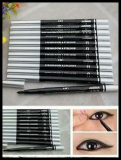 ABIZA Harga satuan EYELINER 2in1 Eyeliner & Eyeshadow Putar silver putih hitam EYELINER SILVER EYELINER PUTIH thumbnail