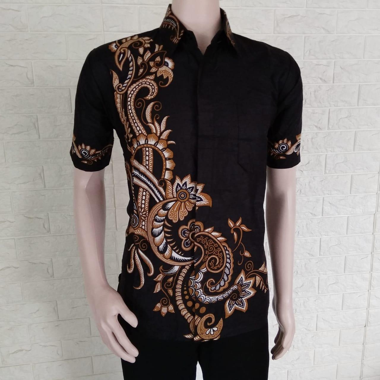 Jual Baju Batik Pria Baju Batik Modern Kemeja Batik Pekalongan Hem Batik  Kemeja Motif ARJUNA COKLAT a2dd83320a