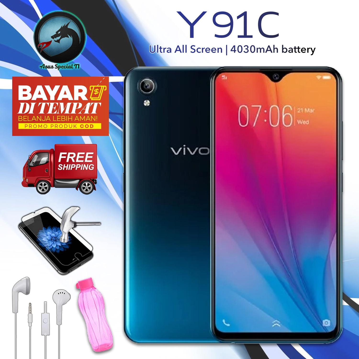 Vivo Y91C - 2G/32G 6.22inches, COD, Gratis Ongkir, Ultra All Screen, Garansi resmi + Packet Special S2