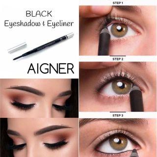 STEDAYSHOP COD BAYAR DI TEMPAT COD - [HARGA ECER 1PCS] AIGNER 2in1 Eyeliner & Eyeshadow Putar PUTIH Silver thumbnail