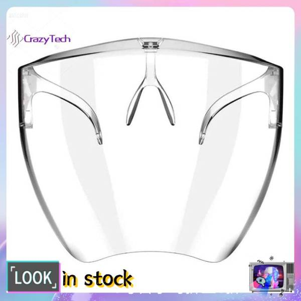 【reday stock/on sale】Oversized Exaggerated fashion Visor Wrap Shild Large Mirror Sun Glasses Half Face Shild Guard Protector Sunscreen and UV protection glasses for All Kinds of Face Shape Guard Protector ant-UV 400 SUNGLASSES *Nopeet inspired