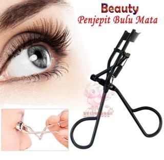 Beauty Penjepit Bulu Mata Pelentik Bulu mata Pelentik Bulumata Women Lady Professional Handle Eye Lashes Eyelash Curler Beauty Makeup Tool - Hitam Black thumbnail
