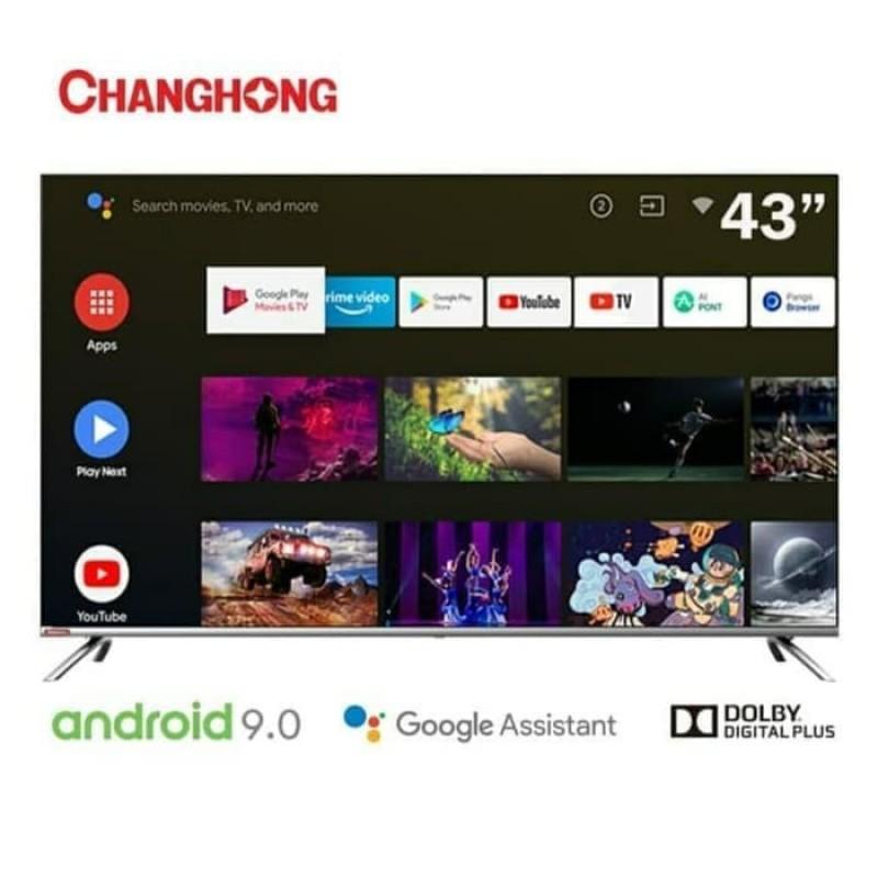 Changhong L43H7 Smart TV LED [43 Inch/ FHD/ Android/ Google Certified]