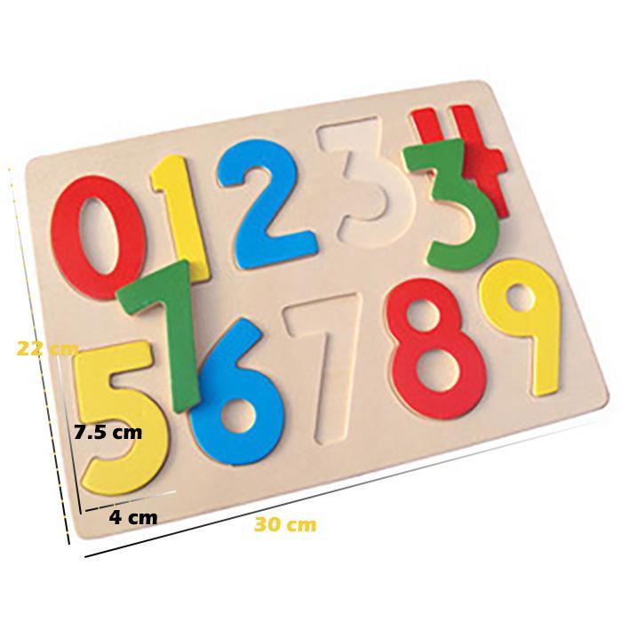 Aa Toys Mainan Anak Puzzle Edukasi Kayu Angka - Mainan Anak Puzzle Angka Polos / Mainan Kayu By Plasamainan.