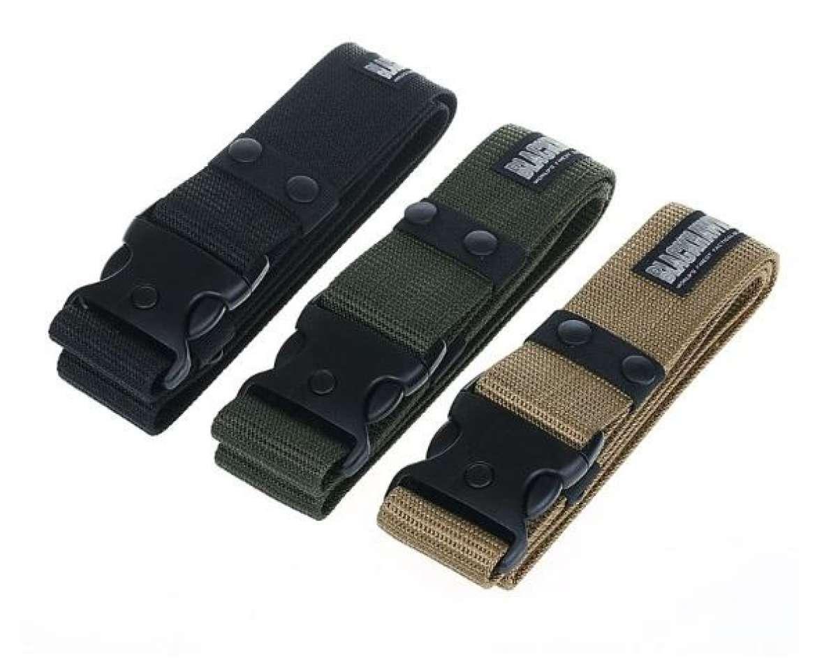 Ikat Pinggang / Gesper Blackhawk Tactical Series Anti Metal Detector Kepala Plastik SAS