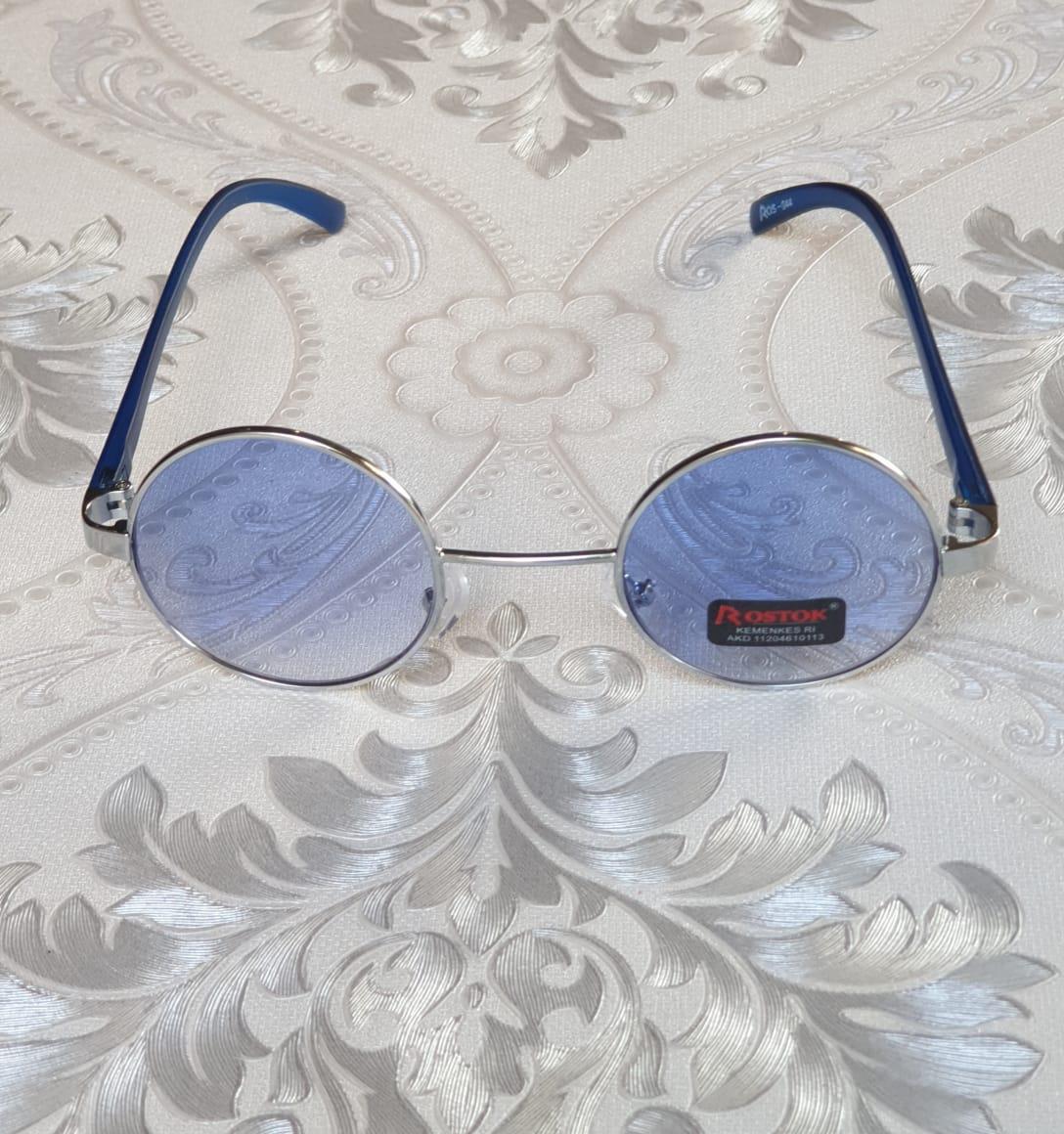 BAYAR DI TEMPAT/Kacamata Unisex Vintage Klasik Bulat Bundar rostok biru/kacamata gaya trendy.sejaht