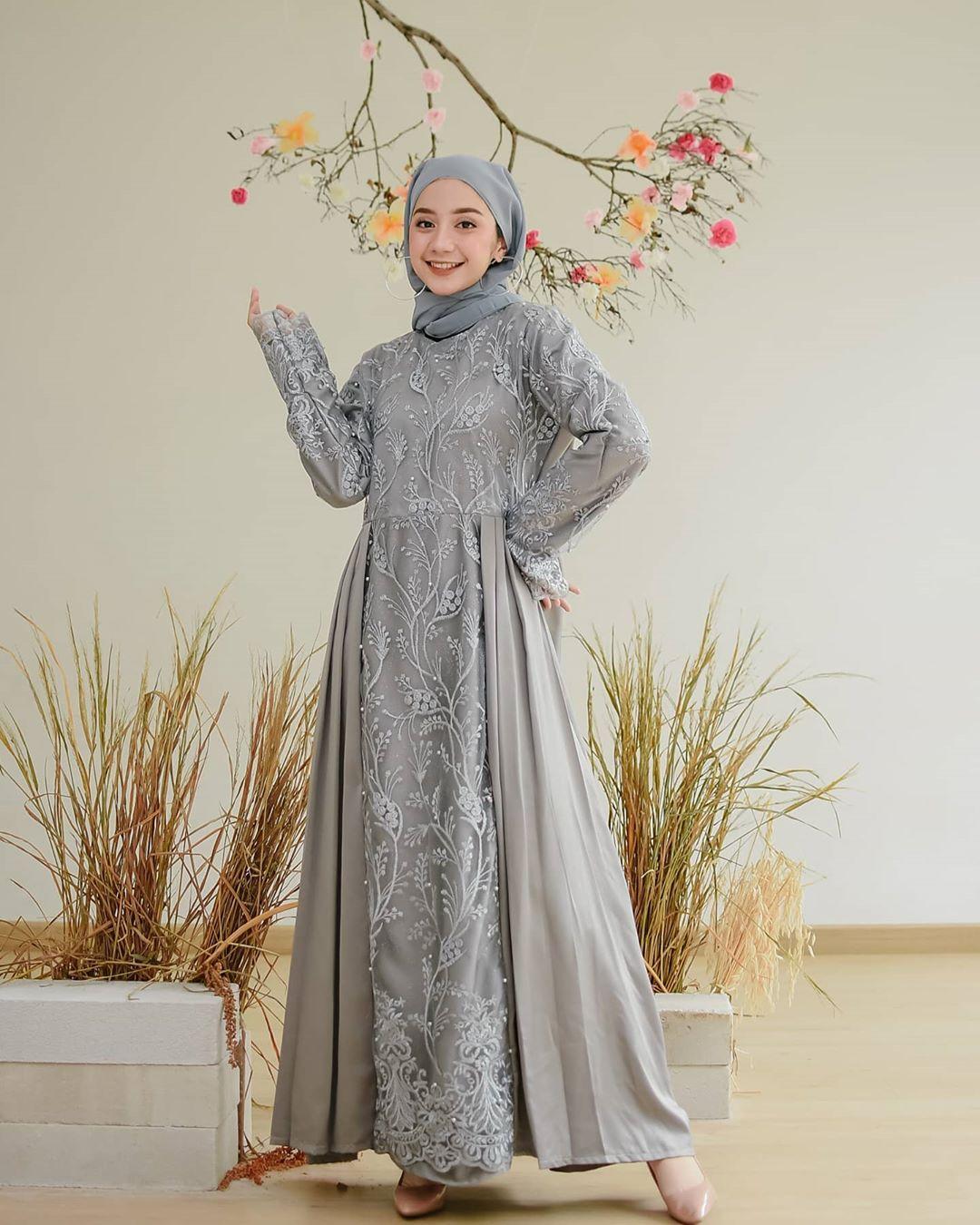 Azzava Dress Model Gamis Brokat Modern Untuk Remaja Fashion Hijab Syar I Remaja Gaun Pesta Muslim Elegan Dan Mewah Baju Gamis Wanita Model Terbaru 2020 Lebaran Gamis Syari