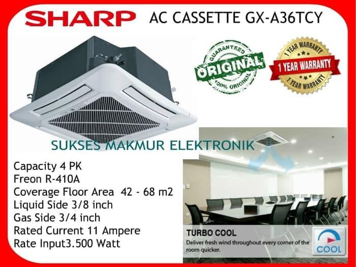 Sharp AC Cassette Series GX-A36TCY Freon R-410A, Free Ongkir Jabodetabek