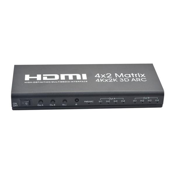 Bảng giá HDMI Matrix 4X2 HDMI 4 in 2 Out 4K 2K HDMI 4 x 2 Switcher HDMI 1.4B EU Plug Phong Vũ