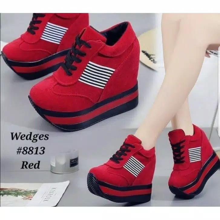 BAYAR DITEMPAT/COD Sepatu wedges boots ht 45 baru promo
