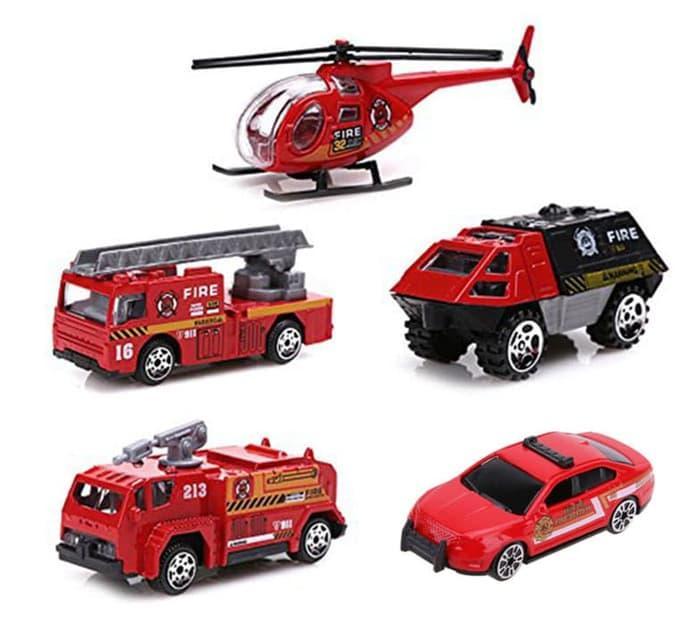 Mainan Team Diecast Mobil Pemadam Kebakaran Truk Damkar Helikopter Set Lazada Indonesia