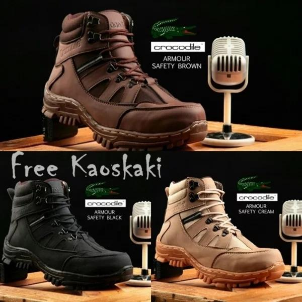 sepatu safety tactical boots crocodile Armour delta   6138823a63