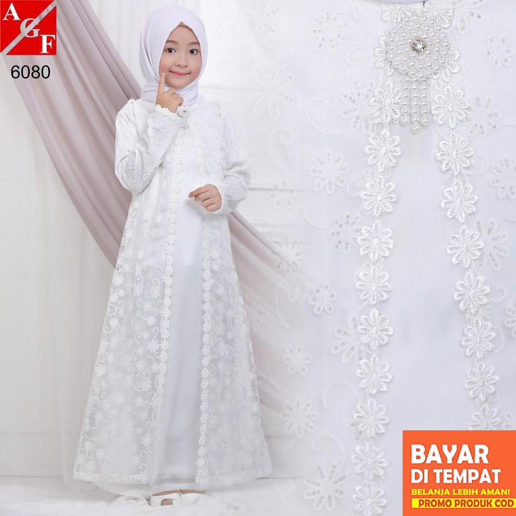 Baju Muslim Anak / Gamis Putih Anak / Syari Putih / Umroh Anak #8