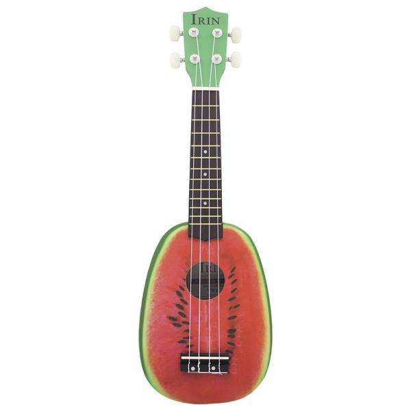 IRIN 21 Inch 12 Fret 4 String Basswood Ukulele Electric Acoustic Guitar Watermelon Style Ukelele Malaysia