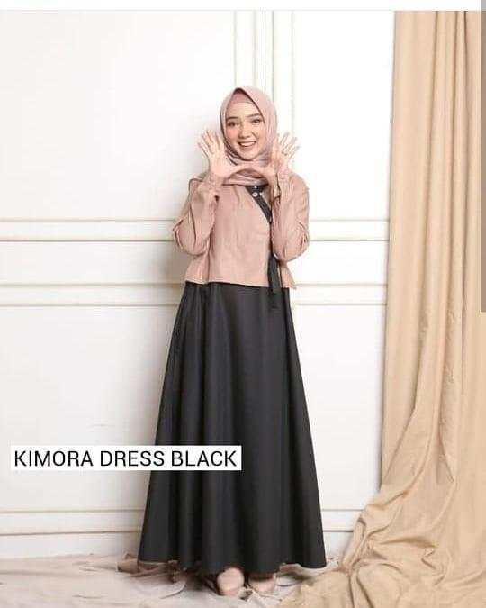 OBM Baju Gamis Kimora Maxy Wollycrepe Dress Wanita Muslim Panjang Supplier  Pakaian Dewasa Bandung Murah Kekinian da6bf1e984