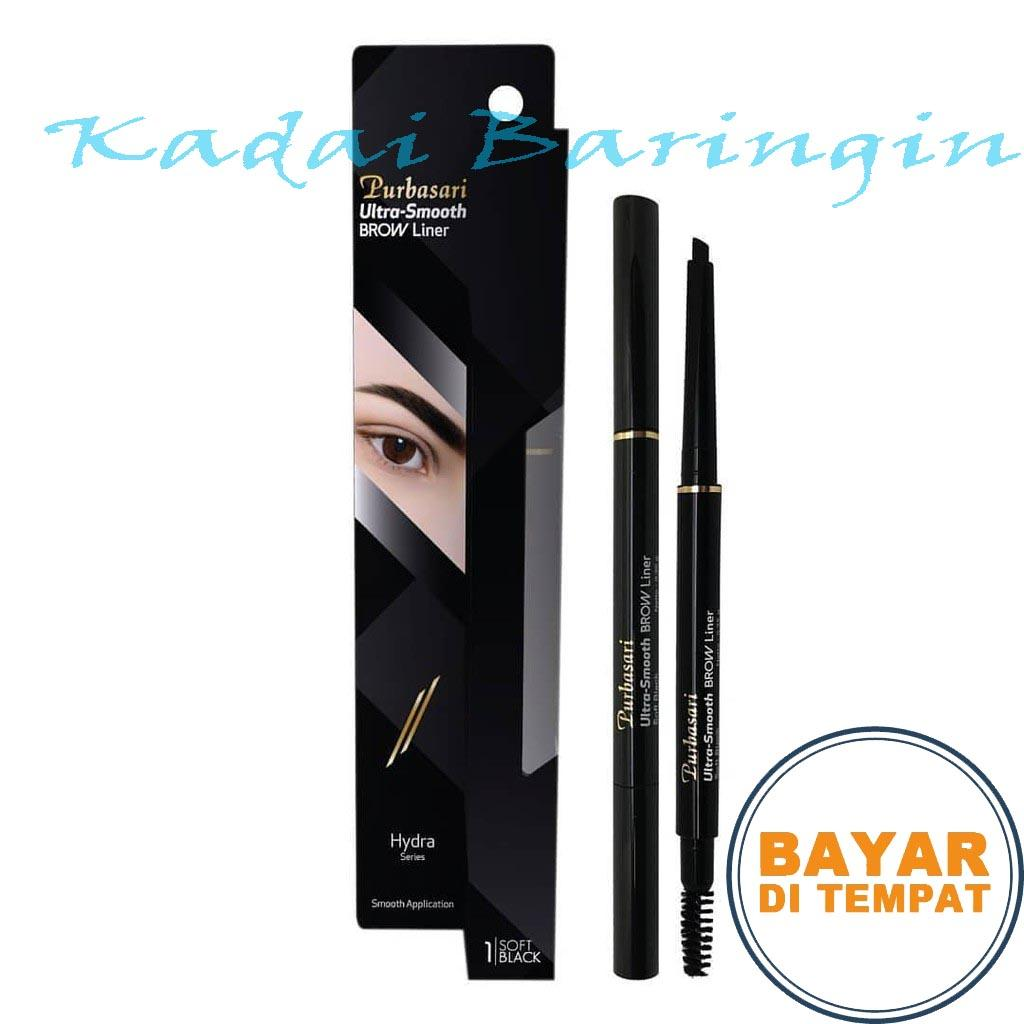 Pensil Alis Otomatis Purbasari Ultra Smooth Brow Liner / Purbasari Ultra Smooth Brow Liner, Warna Alis Intens dan Hasil Natural