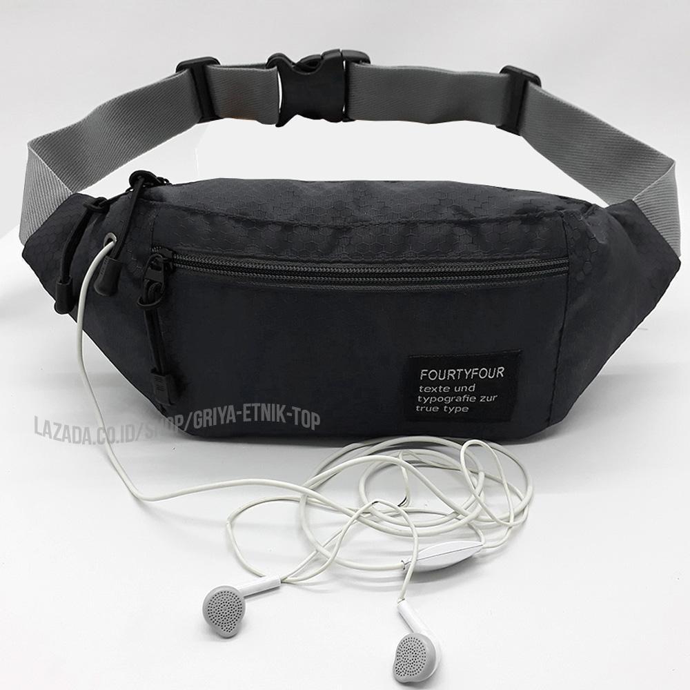 Tas pinggang Pria Mini Fourty four 44 Lubang kabel Headset - Waistbag cowok  mini Terbaru - 6db5fe98cd
