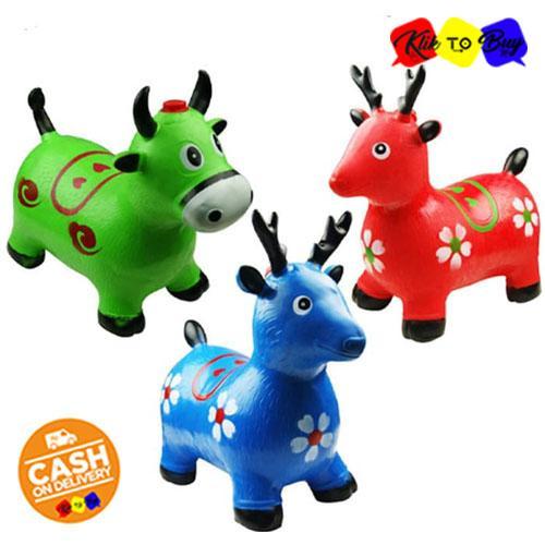 Ktb Animal Jumping Mainan Kuda-Kudaan Karet Anak Dengan Bunyi Musik - Random Color By Klik To Buy.