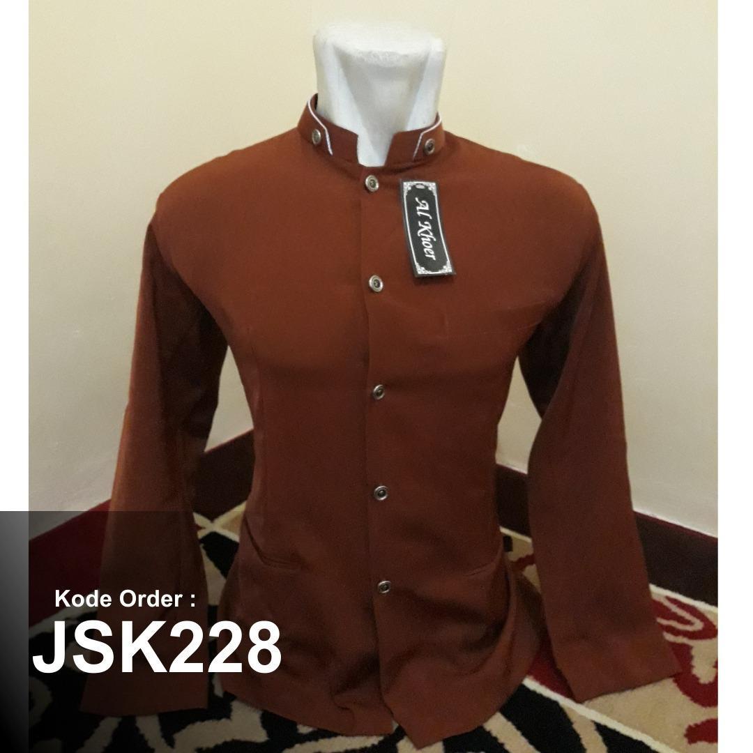 Jasko Merah Bata Polos Model Alkhoer Terbaru
