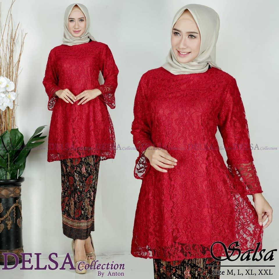 Setelan Kebaya Modern Hijab Remaja Style Modis Cantik brukat SALSAkebaya pesta  Kebaya Modernsetelan pakaian baju wanita 252493a2e4
