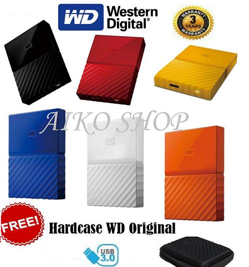 WD My Passport New Design 1TB/2.5Inch/USB3.0 - Free Pouch