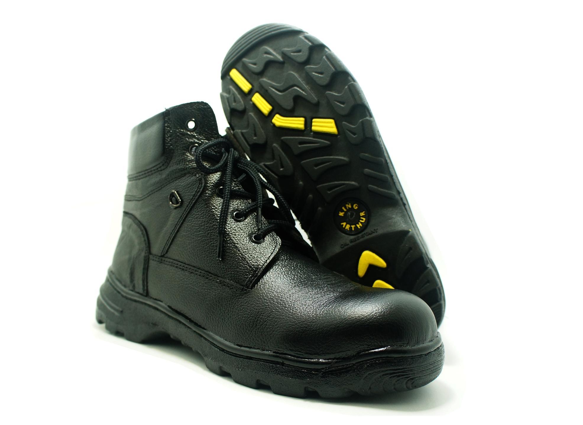 Sepatu Safety Boot Tali King Arthur Kulit Asli By Counter Sepatu.