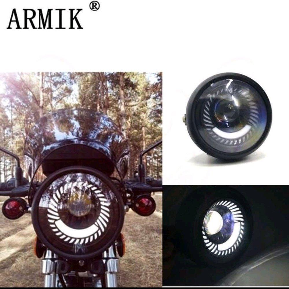 Lampu Daymaker Armik Led Model Sisik - Headlamp Motor Custom Super Terang FMV