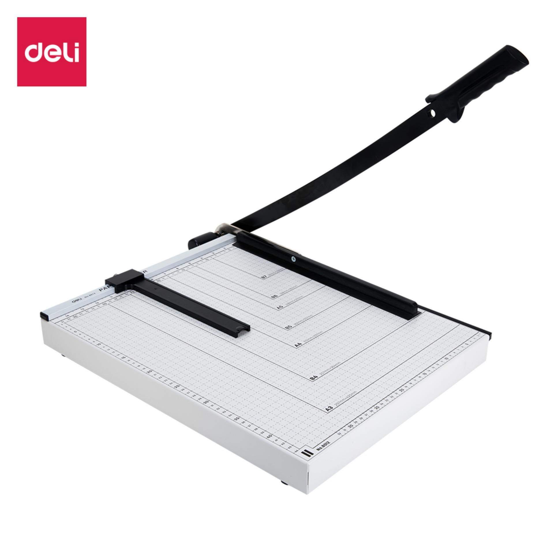 Deli E8012 Paper Trimmer/pemotong Kertas - Steel Paper Trimmer A3 12 Sheets By Deli Official Store.