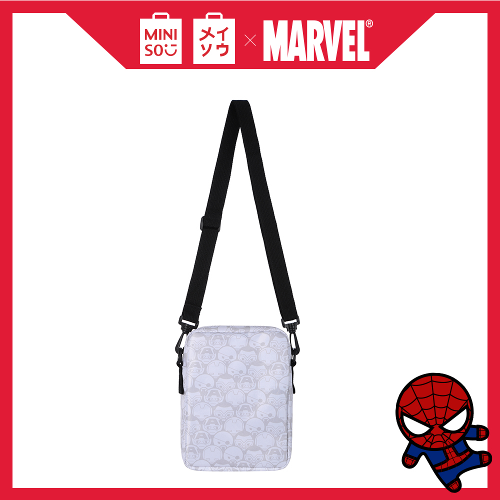 MINISO Marvel Tas Selempang Vertikal Crossbody Shoulder Bag Fashion untuk Sekolah Bepergian