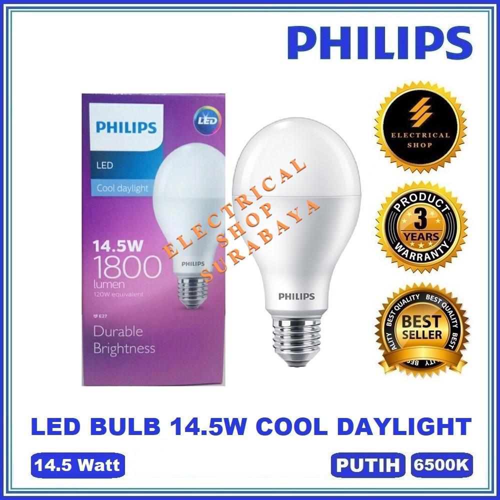 PHILIPS LAMPU LED BULB 14.5W 14,5W / 14.5 WATT PUTIH (BERGARANSI 3