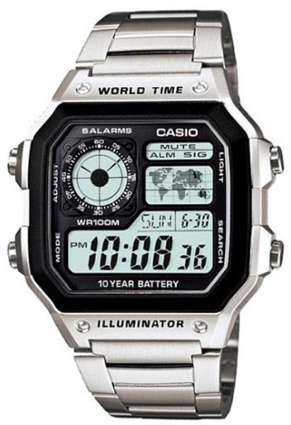 Casio Original Jam Tangan Pria - Stainless - Silver - AE-1200WHD-1AVDF ee907a5d2a