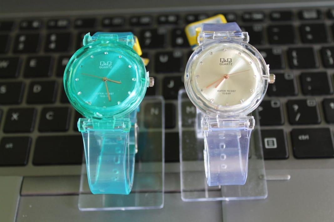 Gani shop-jam jelly transparan terbaru 2019 kaca kristal dengan mank penanda waktu QQ collection-LIMITED EDITION