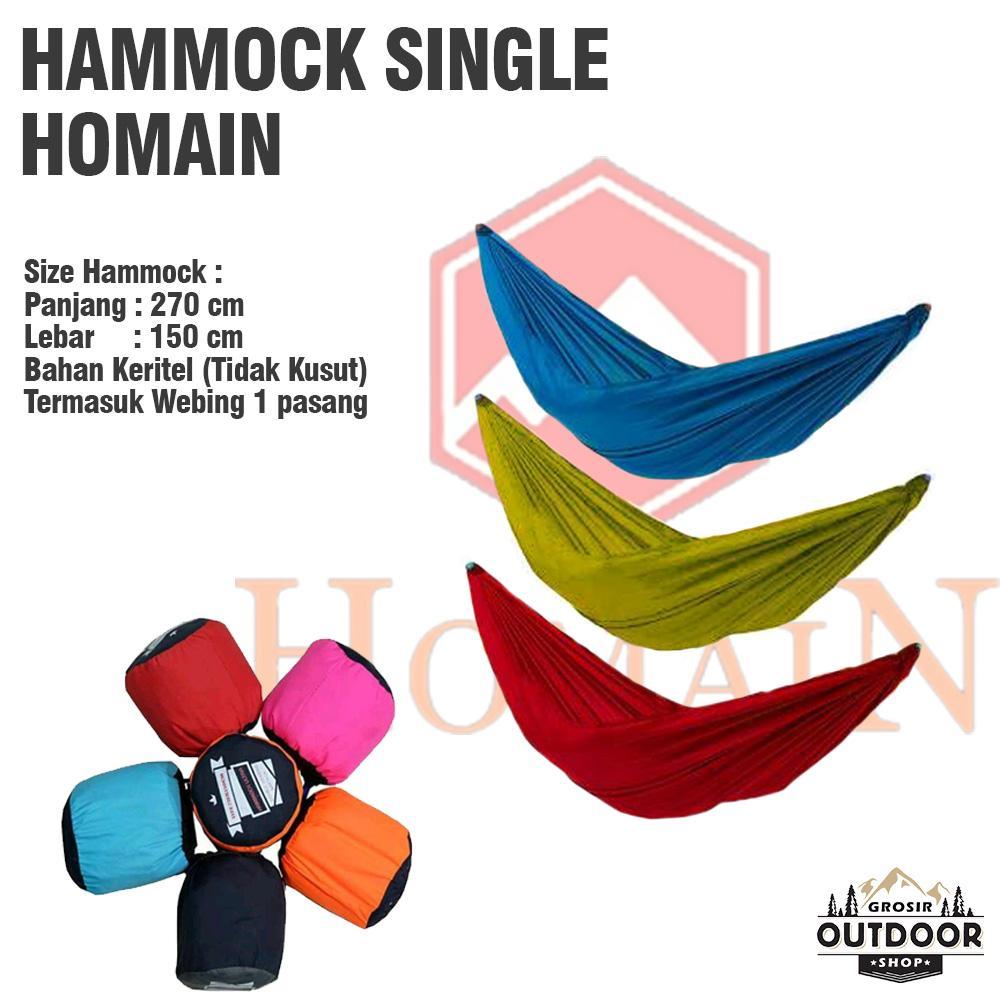 Hammock Single Homain Ultralight - Tempat Tidur Ayunan Gantung - Hamock - Hamok - Hamuk By Outdoor Grosir.