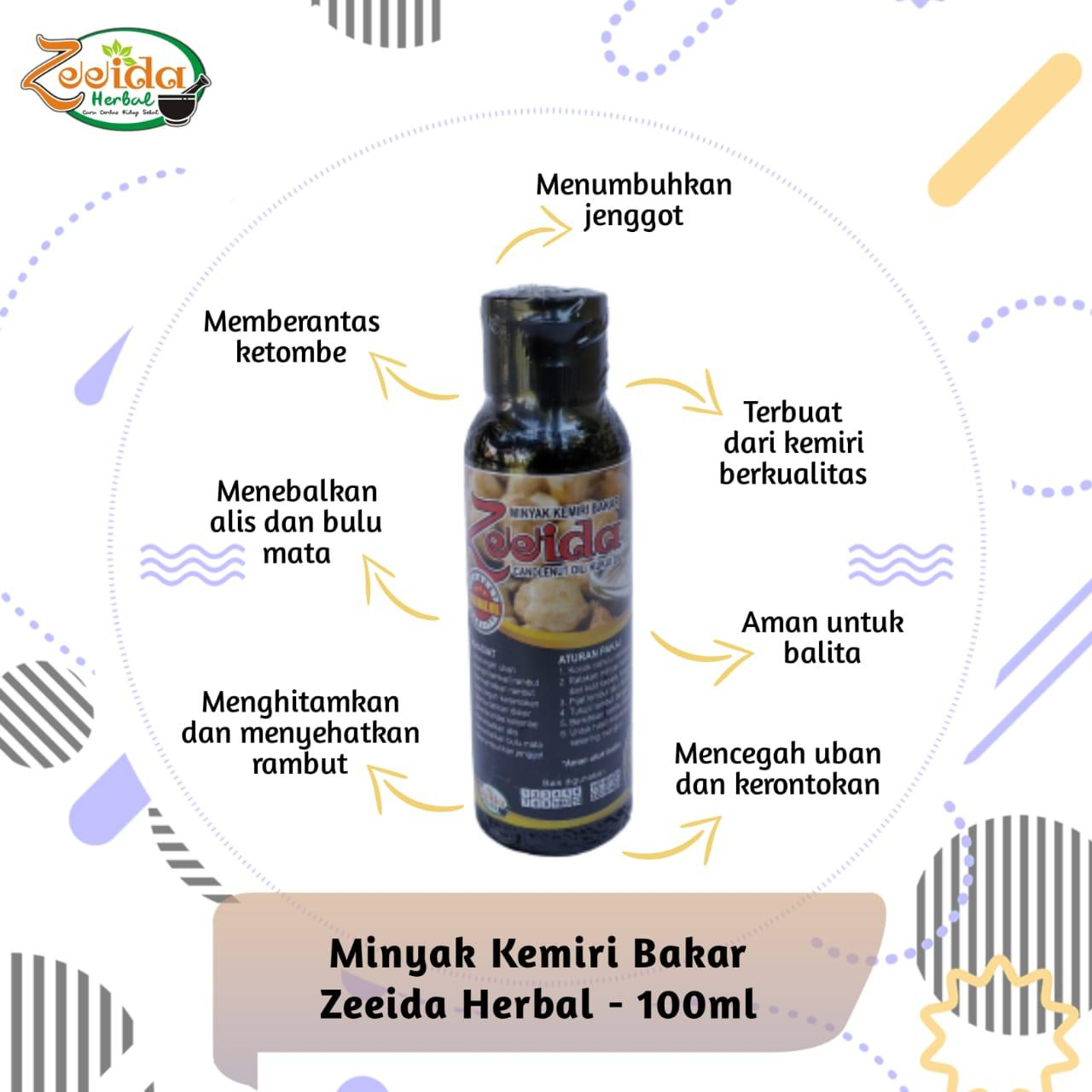 Minyak Kemiri Bakar Zeeida Minyak Rambut Penumbuh Rambut Penumbuh Janggut Penumbuh Jenggot Gma Lazada Indonesia