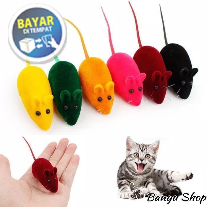 Mainan Kucing Tikus Tikusan Kecil BerBunyi MACAM WARNA 09f7543837