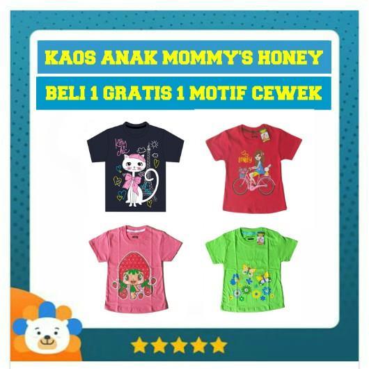BEST DEALS Kaos Anak Mommy's Honey Paket Anak Cewek Buy 1 Get 1 Free