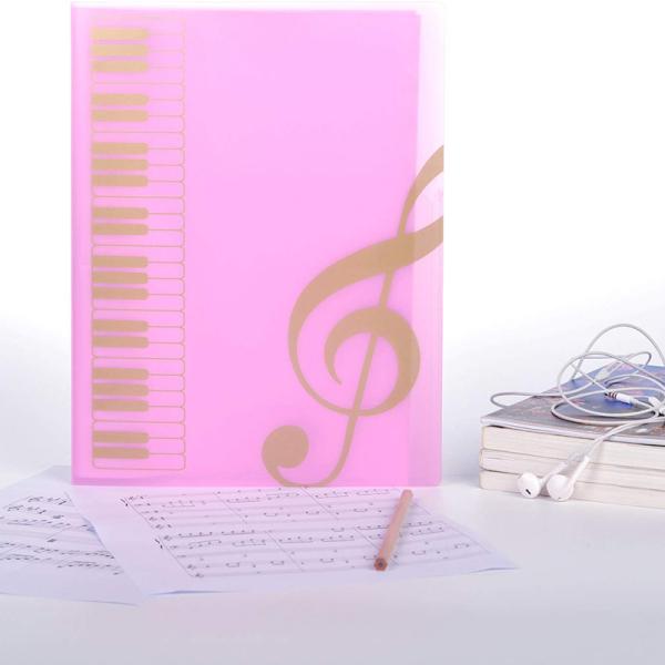 1 Pcs Score Folder, Band Folder, Musician Writable Folder, Spiral Binding A4 Size 20 Sets, 40 Pages