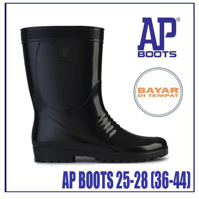 Fanie Shoes - AP Boots 36-44 / Sepatu AP But / Sepatu AP Bot / Sepatu AP Bots / Sepatu Laki Hitam Murah / Sepatu PVC / Sepatu Safety Kerja Proyek ...