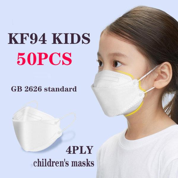ACE ONE 50 Chiếc Mặt Nạ KF94 M-ask, Dành Cho Trẻ Em Mặt Nạ Gấp Gọn Hình Cá 3D Mềm, Thiết Kế Thoáng Khí Và Thoải Mái Cho Trẻ Em Mặc Bảo Vệ