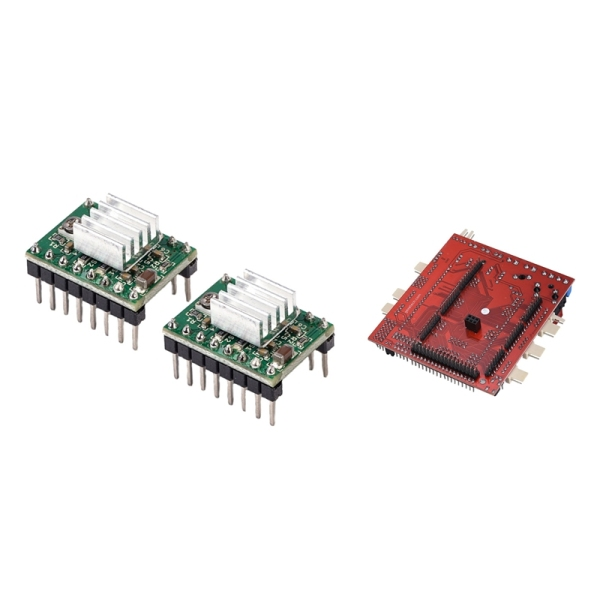 Bảng giá 2 Pcs A4988 Reprap Stepper Motor Driver Module with Heatsink DIY for 3D Printer & 1 Pcs Controller Board, 3D Printer Motherboard Reprap Ramps-Fd Shield Ramps 1.4 Control Board Phong Vũ