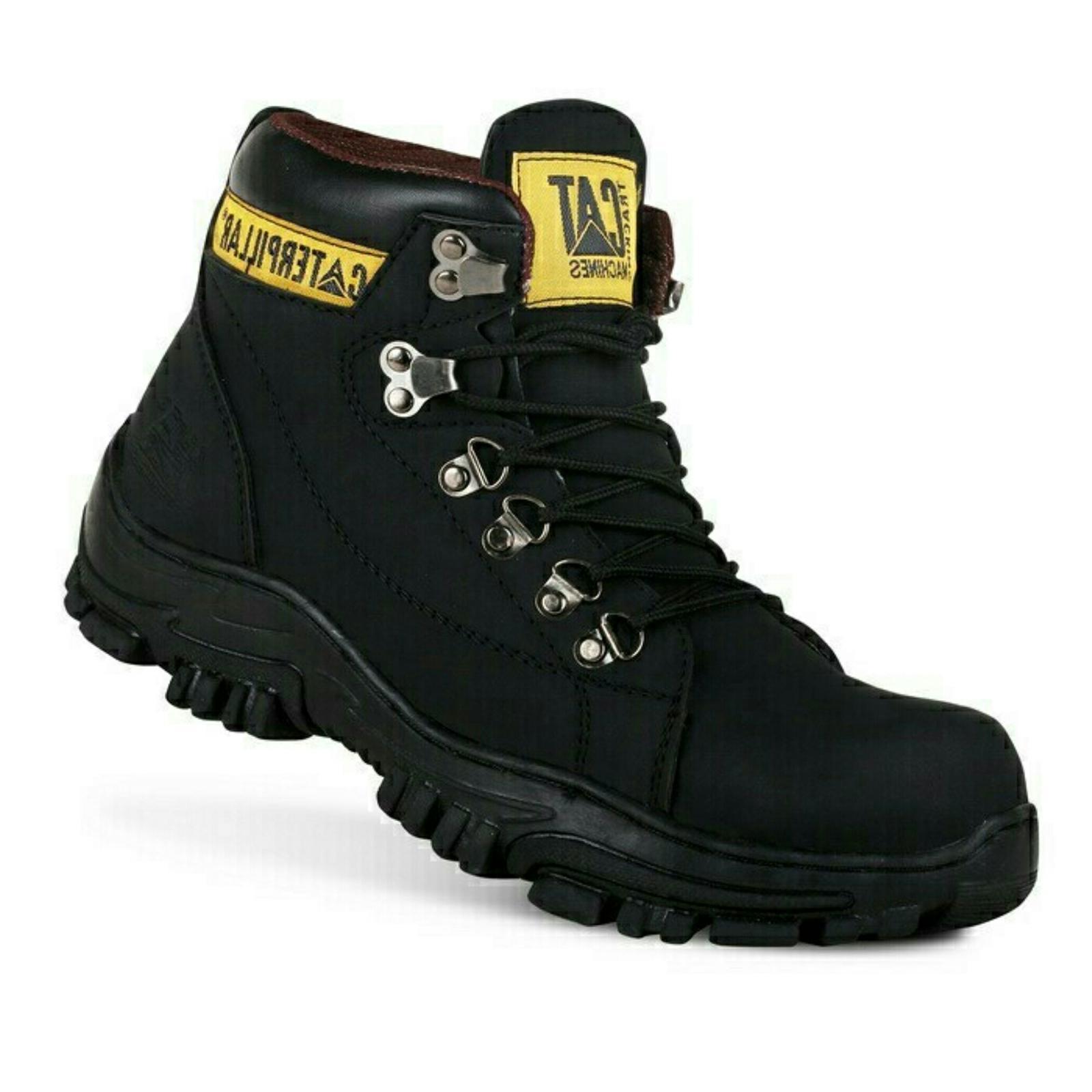 Sepatu Boots Pria Safety Caterpillar Hydraulic Ujung Besi Murah 93dfc7fac9