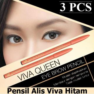 [3 PCS] Pensil Alis VIVA Coklat - Pensil Alis VIVA Hitam - Eyebrow Pencil Original - Pensil Alis Viva Queen thumbnail