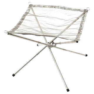 Outdoor Fire Pit Stainless Steel Camping Wood Stove Stand Frame Fire Rack Garden Backyard Heating Mesh Fire Bonfire Pit thumbnail