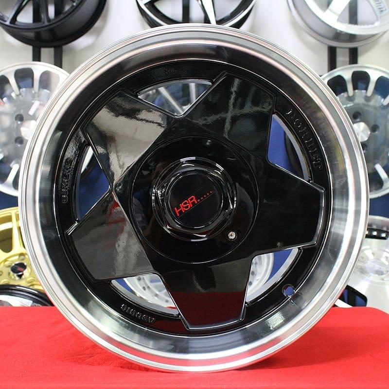 Velg Mobil Murah HSRAACHEN Black Ring 15 Honda Brio Avanza Yaris Livina