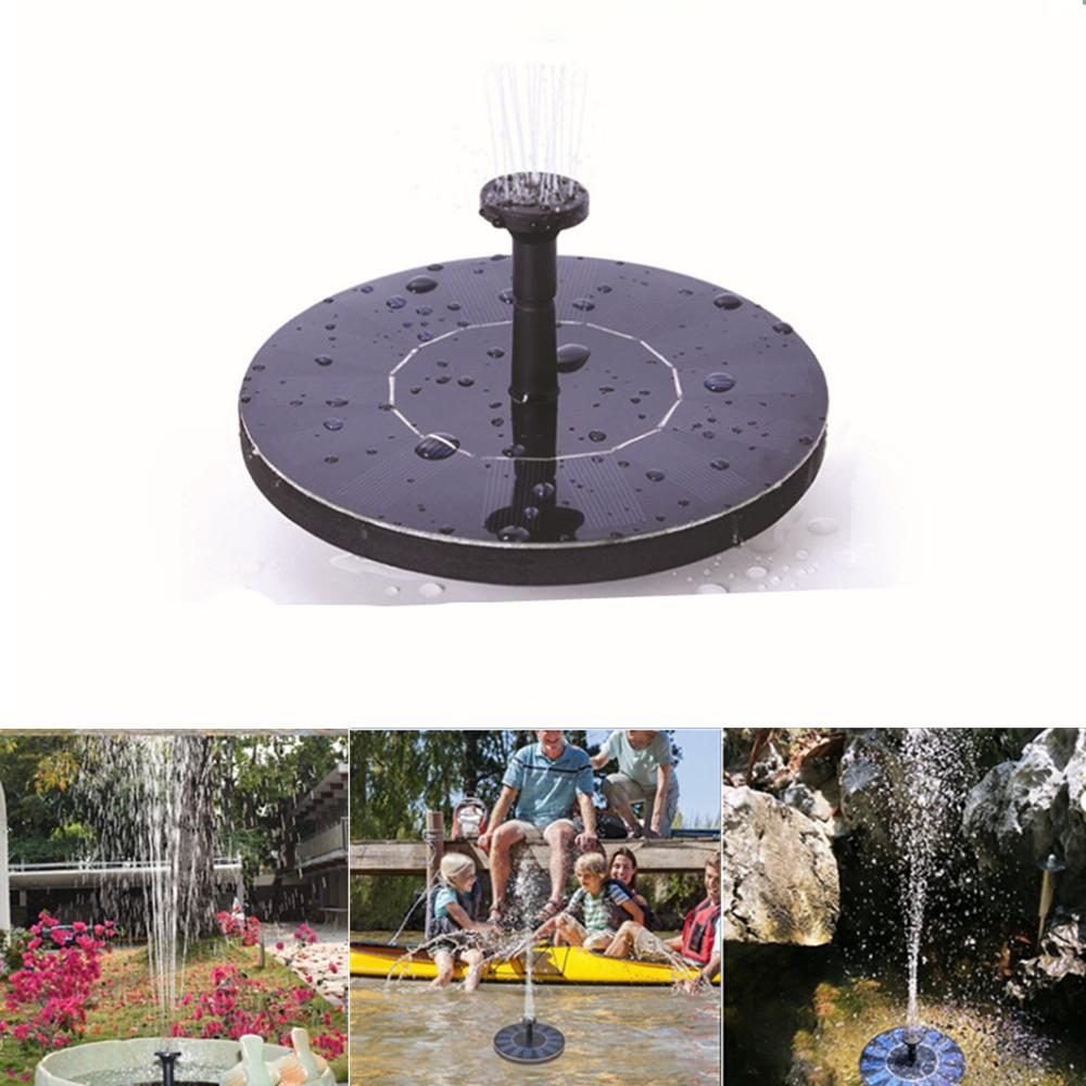 DM Mini Solar Floating Water Fountain for Garden Pool Pond Decoration