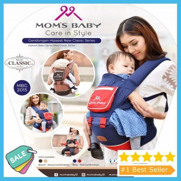 PROMO TERLARIS Gendongan Bayi Depan Moms Baby - Hipseat New Classic Series Gendongan Bayi Lucu /