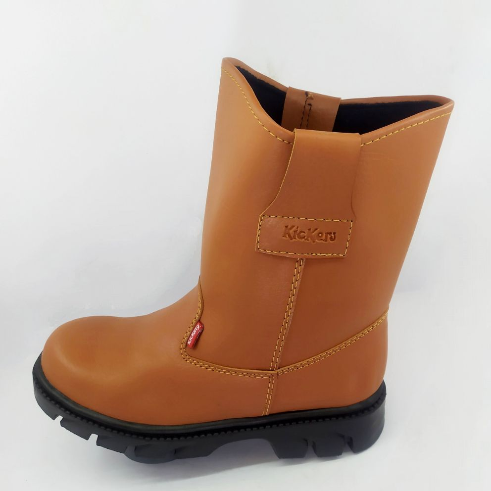 Sepatu Safety Boot Kulit Imitasi Import King Kickers Original
