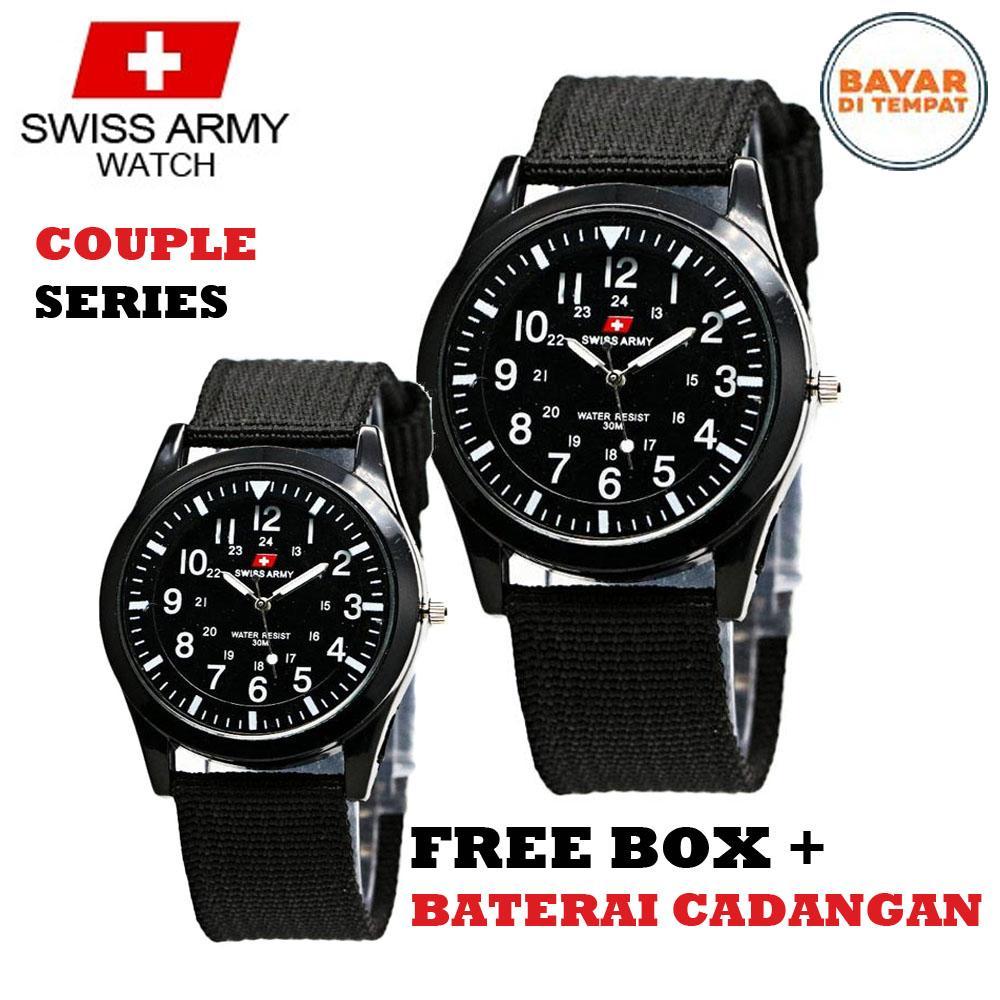 Swiss Army couple   pasangan - Jam tangan pria dan wanita - kanvas premium  strap - 5bf85b6c7f